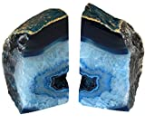 The Royal Gift Shop: Blue Genuine Brazilian Extra Quality Agate Bookends - Home Decor (Blue, 2-3 lbs)