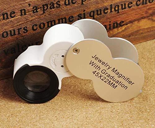 ZTYD Pocket Magnifier Portable met LED Light UV Counterteiteitei Jewelry Identification Type met inklapbare ladder