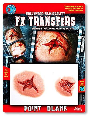 Horror-Shop Coup de blessure de Tatouage 3D et blessure de ponction