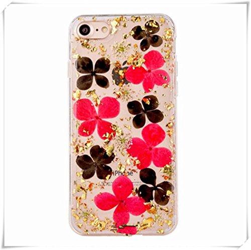 One Life ,one jewerly Gel de sílice transparente teléfono móvil cáscara, lentejuelas doradas, flores secas rojas, cáscara de flor seca negra.(¿qué tipo de cáscara del teléfono móvil se necesita?