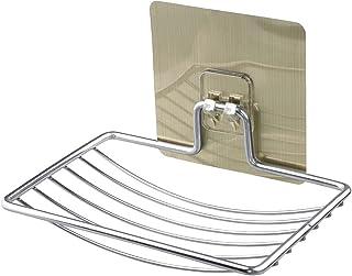 浴室用ラック 強力粘着固定 お風呂の壁に ステンレス シャワーラック 水切り 風呂場洗面所収納壁掛け棚 収納ラック 1段式