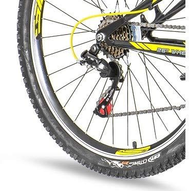 breluxx 26 Zoll Mountainbike Hardtail Venera Sport Vortex Yellow 18 Gang Shimano, Scheibenbremse Frontfederung MTB, inkl. Schutzbleche + Reflektoren, Modell 2019 - 5
