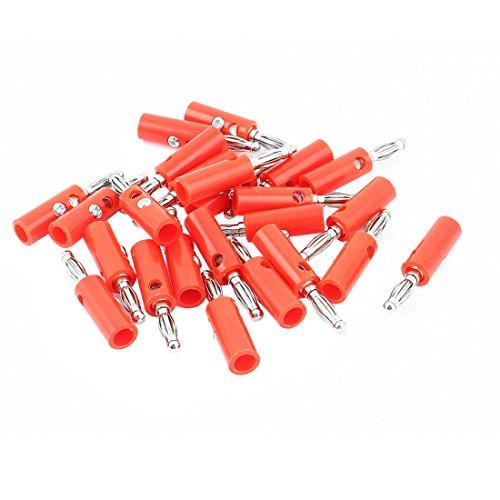 Aexit 24 stücke Rot Silber Ton 4mm Bananenadapter Draht Kabel Audio Jack Anschlüsse für Lautsprecher Verstärker Binding Post Test Sonden (c1edc6c95fff16be74f21ce97a3ba1b4)