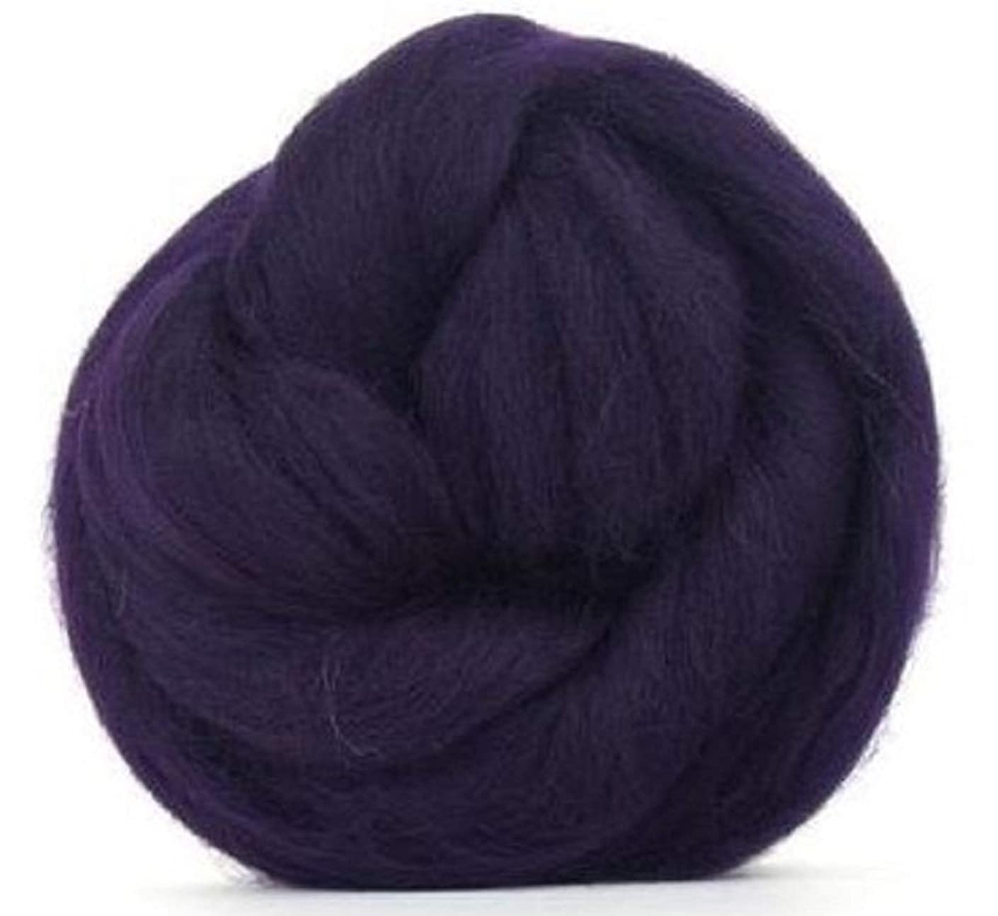 4 oz Paradise Fibers 64 Count Dyed Aubergine (Purple) Merino Top Spinning Fiber Luxuriously Soft Wool Top Roving for Spinning with Spindle or Wheel, Felting, Blending and Weaving