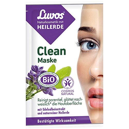 LUVOS Crememaske Clean-Maske tiefenwirksame Reinigung vegan mit Sofort-Effekt 2 x 7,5 ml