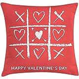 SSHELEY Funda de Almohada Love, tipografía Happy Valentines Day con Juego de...
