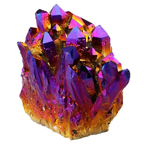 Shanxing Irregulär Natürlich Bergkristall Titanium Überzogen Edelstein Kristall Quarz Drusen Cluster Dekoration,Violet