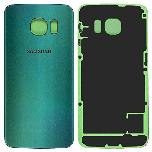 Original Samsung copribatteria green/verde per Samsung G925F Galaxy S6 Edge (batteria vano coperchio, batteria copertura, retro, Back-Cover) - GH82-09602E