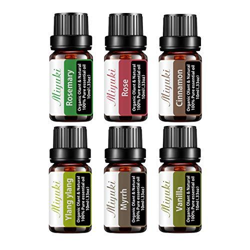 Essential Oil Sets with Myrrh,Rosemary,Rose,Cinnamon,Ylang...