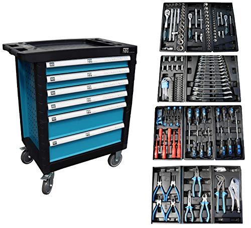 Werkzeugwagen Werkstattwagen Werkzeugkasten Werkzeugkiste + Werkzeug 220 tlg.