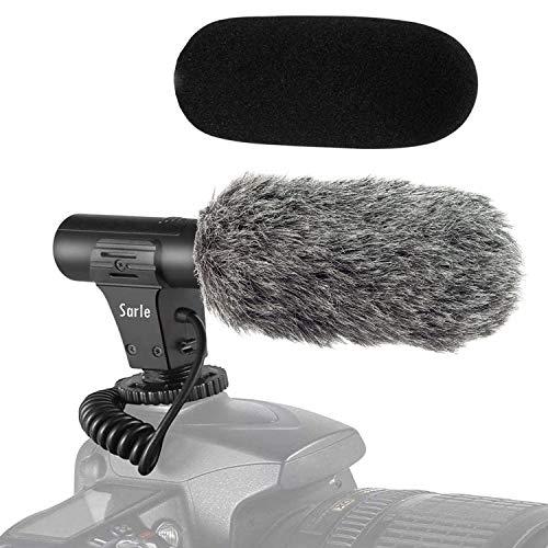 カメラマイク外付けマイク一眼レフ対応 指向性コンデンサーマイク D-SLR 録音用マイク 単一指向性 3.5mmデジタルビデオ録音用マイクNikon Canon
