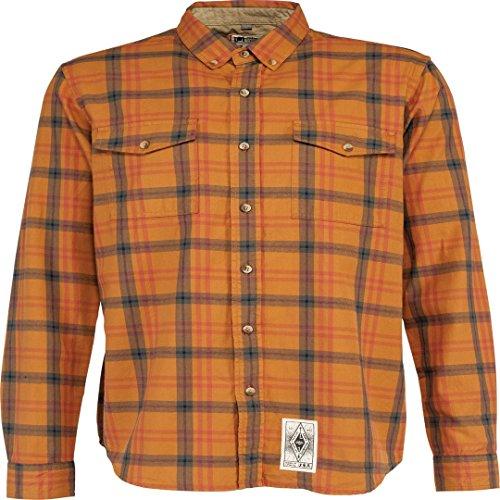 L1 Outerwear Roughneck L/S T-Shirt à Manches Longues pour Homme Orange Taille S