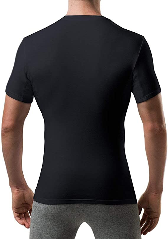 Thompson Tee - Camiseta interior antisudor con refuerzo en las axilas - Corte ajustado - Cuello redondo - Blanco - X-Large