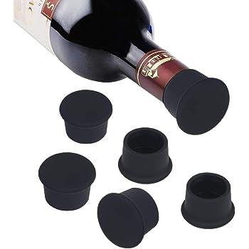 Vicloon Tappo di Bottiglia,6 Pezzi Capsule in Tappo per Bottiglie di Champagne Vino,Tappi per Bottiglie Riutilizzabili