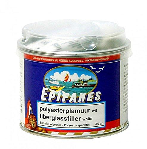 EPIFANES 2K Polyesterspachtel Weiss, 500g Dose mit Härter E5-9