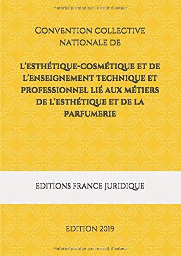 Convention collective nationale de l'esthétique-cosmétique et de l'enseignement technique et professionnel lié aux métiers de l'esthétique et de la parfumerie: EDITION 2019