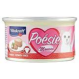 Vitakraft - Poésie Mousse, Fina y Delicada Mousse para tu Gato, Variedad Ternera - 85 g