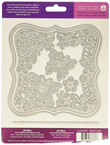 Die 'sire schaffen eine card-butterfly Staffelei, Metall, silber, 17,4x 22,5x 0,2cm