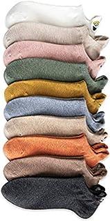 Chaussette Courtes, Calcetines de algodón de expresión bordada de dibujos animados para mujer Calcetines divertidos de tobillo lindos, calcetines de tobillo de mezcla de algodón suaves y transpirable