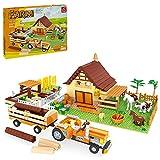 BGOOD Juego de bloques de construcción con placas de construcción, 626 + bloques de construcción DIY City Casa con animales, árboles y figuras, juguetes de construcción compatibles con Lego