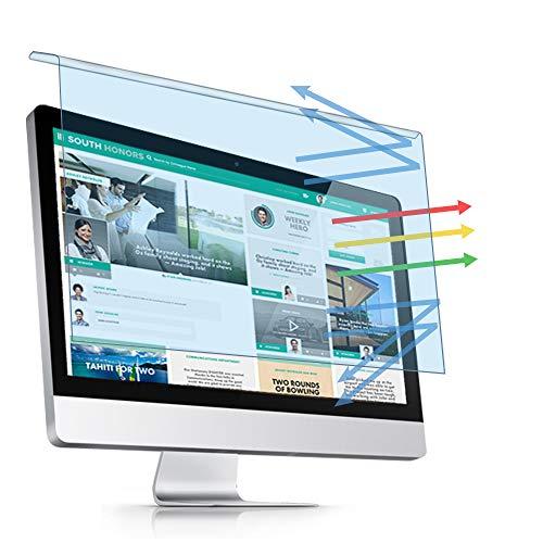 PaceBid Hängend Anti-Blaulichtfilter für 20-22 Zoll Computer/Monitore, Anti Eye Strain, Blockiert Übermäßig Schädliches Blaues Licht & UV Film für Diagonale 20, 21.5, 22 Zoll Desktop, Abnehmbar Filter