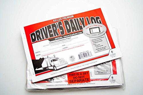 J.J. Keller 8526 701L Duplicate Driver's Daily Log Book Carbonless (4 Pack)