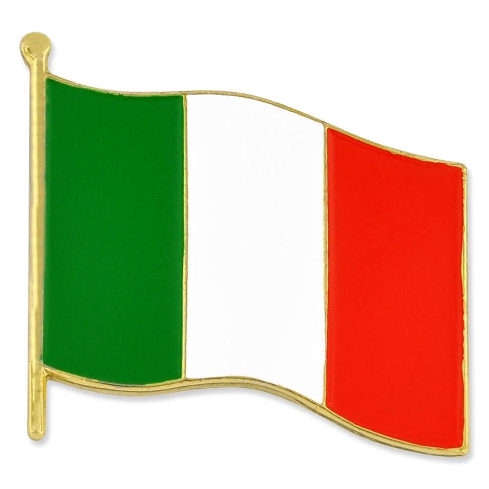 PinMart Italy Italian World Flag Enamel Lapel Pin 3/4''