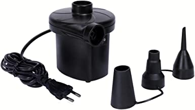 BLAPOXE 220V-Electric Air Pump Inflator Deflate with 3 Nozzles for Air Bed Boat Raft Mattress