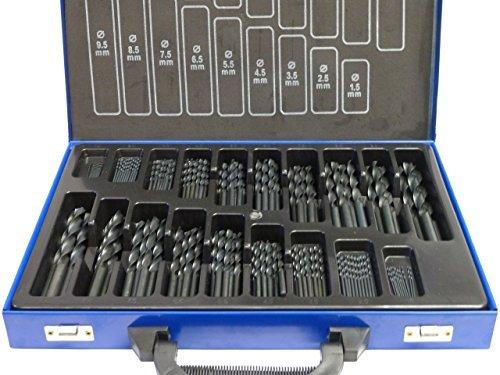 SYTO24, 170tlg. Spiral-Bohrer HSS-R (1-10mm), DIN338, Typ N, Metallbohrer, Stahlbohrer
