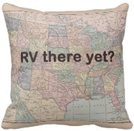 """RV Throw Pillow """"RV there yet?"""" Travel and retirement"""