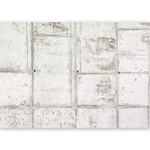 murando - Fototapete XXL Betonoptik 500x280 cm Vlies Tapeten Wandtapete XXL Moderne Wanddeko Design Wand Dekoration Wohnzimmer Schlafzimmer Büro Flur Textur weiß f-A-0458-a-a