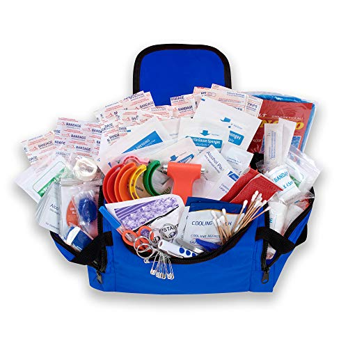 ASA Techmed First Aid EMS First Responder Fully Stocked Trauma First Aid Kit (Blue)