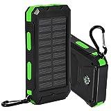 iFCOW Batterie externe solaire 10 000 mAh pour téléphones portables et tablettes - Kit de bricolage avec boussole portable - Vert