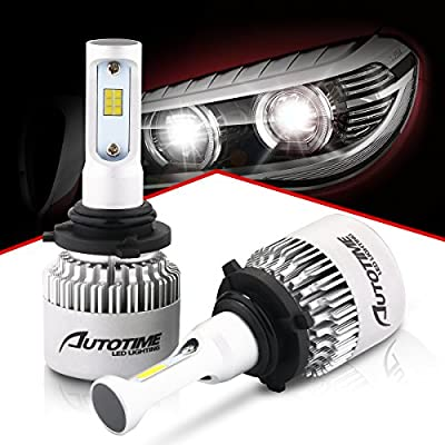 AutoTime LED Automobile Headlight Bulbs 72W 16000LM 6500K CSP Chips All-in-One Headlight Conversion kit - 2 Year Warranty