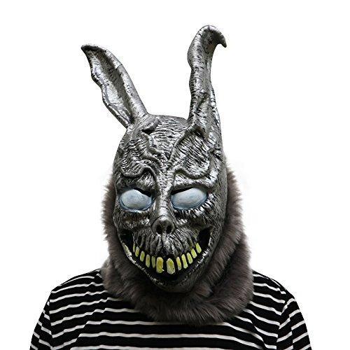 Donnie Darko Frank The Rabbit Maske - perfekt für Fasching, Karneval & Halloween - Kostüm für Erwachsene - Latex, Unisex Einheitsgröße