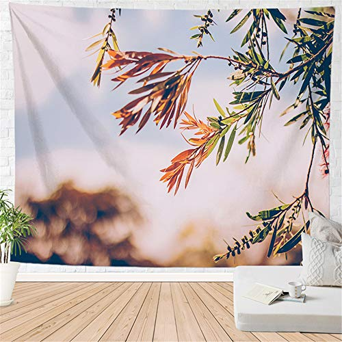 OTIAN Tapiz Sofa Tapiz De Paisaje 3D Toalla De Playa Bosque Hermoso Luz del Sol Impresión Alfombra De Pared Estera De Yoga Decoración para El Hogar Tapiz