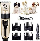 NANI Perro Clipper, eléctrico inalámbrico Pet Trimmer pelo de gato del perro, herramienta de aseo for mascotas recargable silencioso, Wireless Pet Grooming Kit de Clipper con tijera, Cortauñas for per