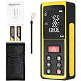 Laser Measure 131Ft, papasbox Laser Distance Meter with Angle electronic sensor Portable Digital Measure Tool with m/in/ft Conversion, Pythagorean Mode, Distance/Area/Volume Measurement
