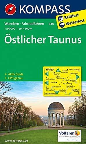 Östlicher Taunus 1 : 50 000: Wanderkarte mit Radrouten und Aktiv Guide. GPS-genau (KOMPASS-Wanderkarten, Band 840)