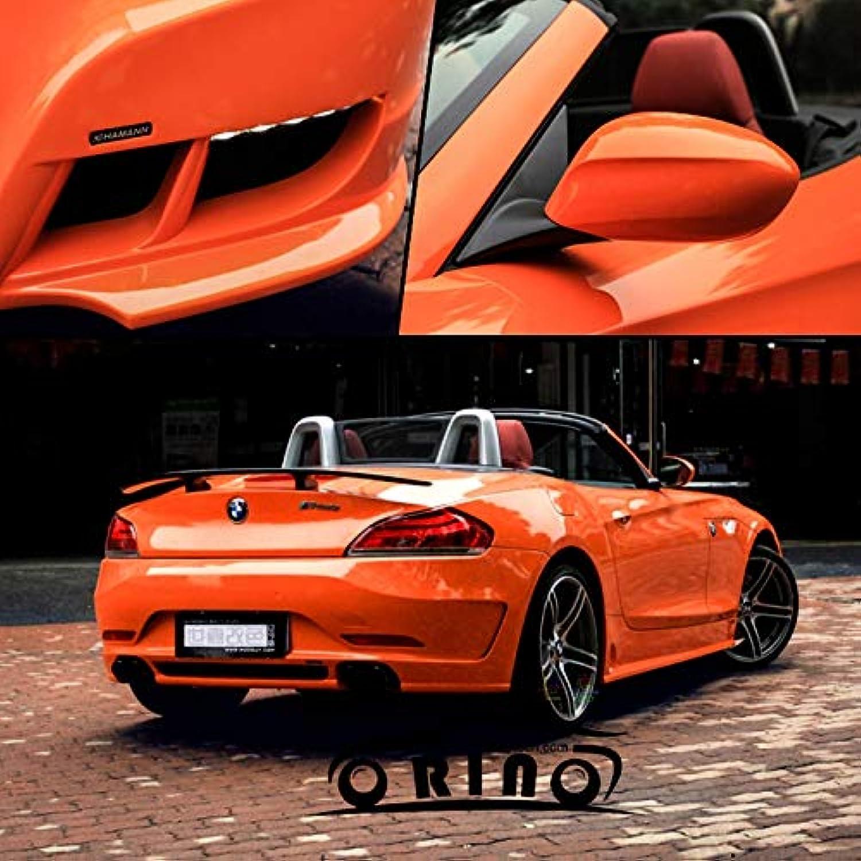 Orange Glossy Vinyl Car Wrap Sticker High Glossy Film Wrap For Roof