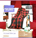 Better Homes and Garden Sherpa Throw Red Plaid Blanket 50'x 60'