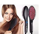 ISABELLA Ceramic Professional Electric Hair Straightener Brush with Temperature Control and Digital Display