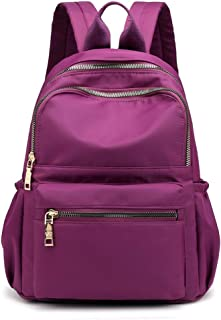 The New Backpack Female Oxford Cloth Backpack Fashion Wild Leisure School Bag Laptop Bag Travel Toiletry Bag Garment Bags for Travel ; (Color : Purple, Size : Free Size)