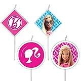 Lot 4 Bougie Barbie 6cm - Décoration gateau ; Anniversaire ; Gouter - 912