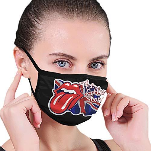 Lncsdk Aeuv The Rolling Stones Mick Jagger- Keith Richards Nahtloser staubdichter Schal Bandana Face Covers Wiederverwendbarer Schal