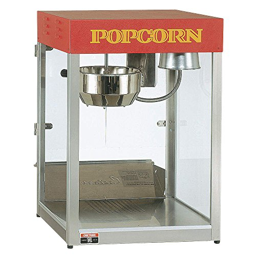 Great Deal! Cretors - T312A1X-XXX-X - Popcorn Maker, 12 oz., 120V, Silver/Red
