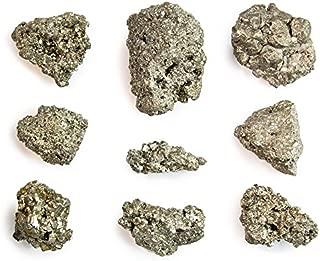 Beverly Oaks Iron Pyrite Stone ‐ Pyrite Bulk ‐ Gorgeous and Sparkling Bulk Pyrite (AKA Fool's Gold) (1/2 Pound)