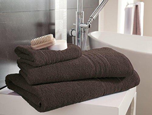 Gaveno Cavailia - Toalla de Mano (100% algodón Natural, Absorbente, 450 g/m², 4 Unidades, 50 x 80 cm), Color Nogal
