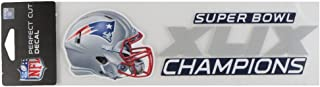 WinCraft New England Patriots Official NFL 3 inch x 10 inch Super Bowl 49 Champions Perfect Cut Car Decal by 004291