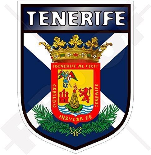 TENERIFFA INSEL Schild KANARISCHE INSELN Spanien, Islas Canarias Spanisch 100mm Auto & Motorrad Aufkleber, Vinyl Sticker